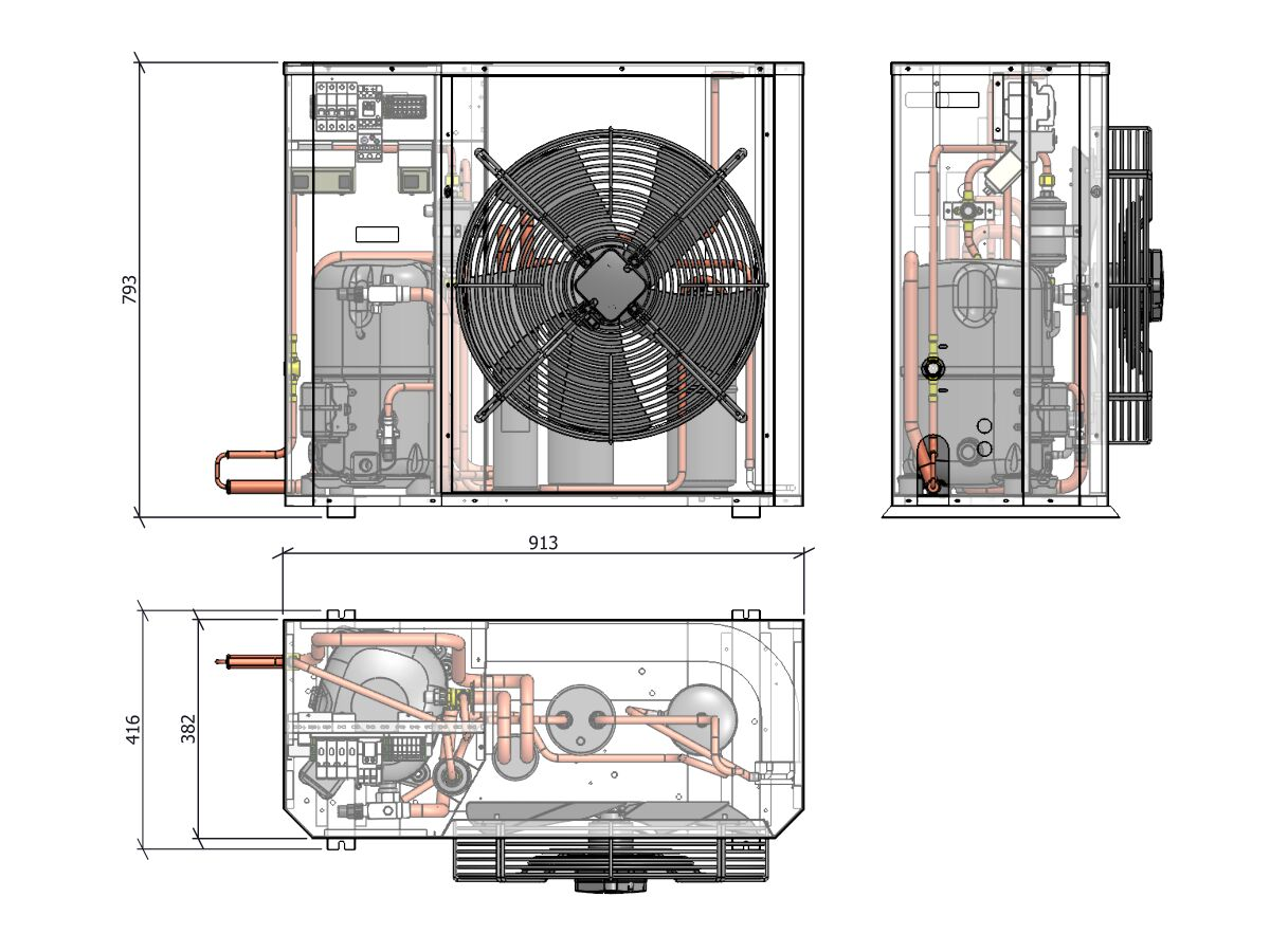 Tecumseh Compac Condensing Unit R404A PAC2516Z 3 Phase