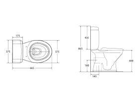 Posh Solus Round Toilet Suite Close Coupled S-Trap