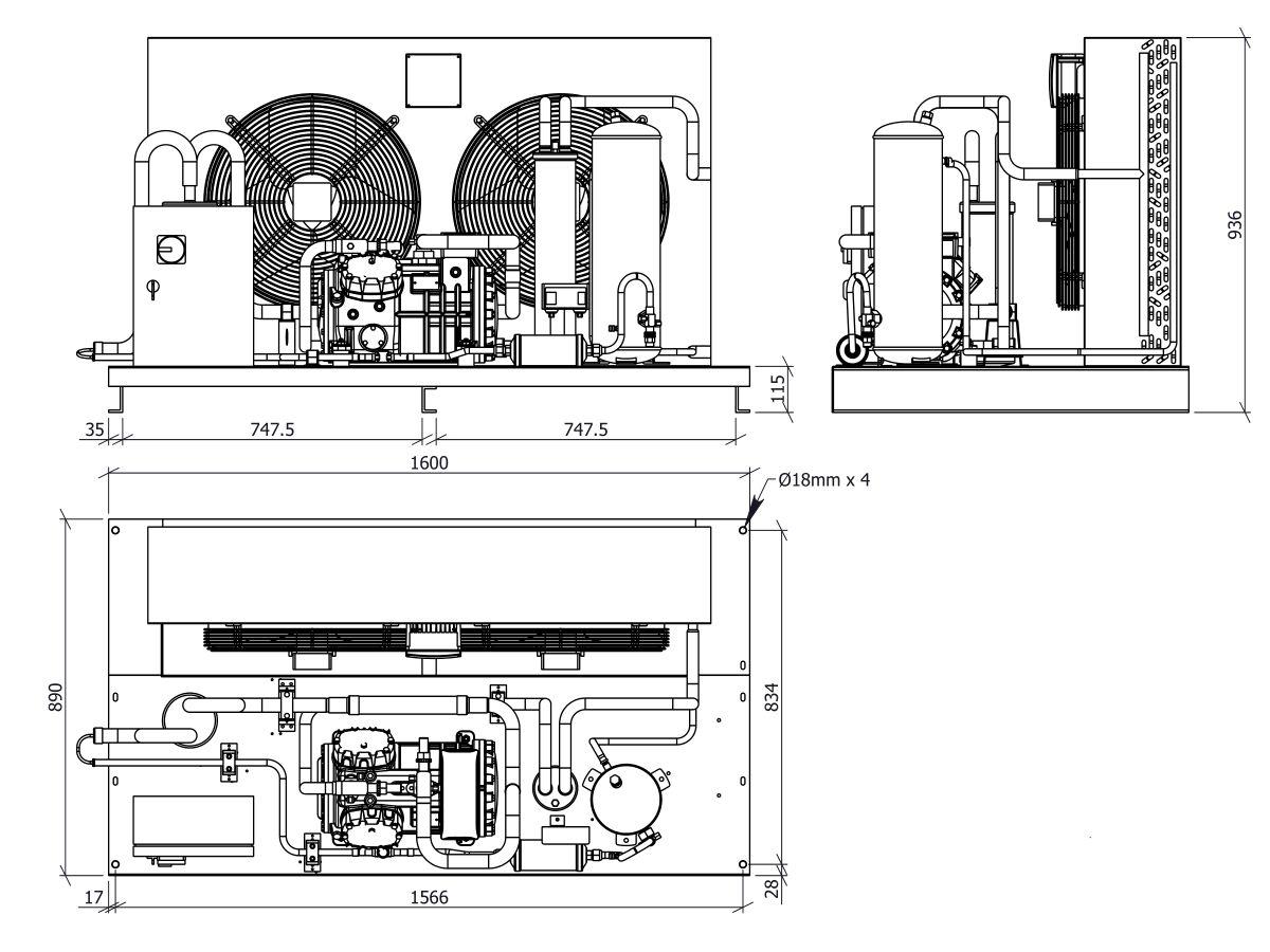 Tecumseh Semi Hermetic EVO Condensing Unit SHT4612ZHR 3 Phase