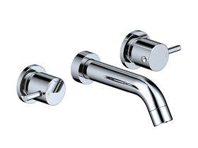 Mizu Drift Curved Wall Bath Set 160mm Chrome