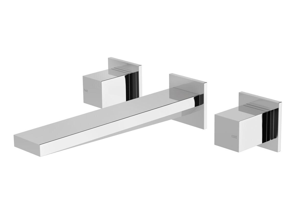 Milli Edge MK2 Wall Basin / Bath Set Chrome