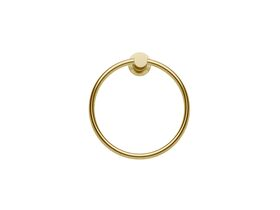 Scala Guest Towel Ring LUX PVD Brushed Pure Gold