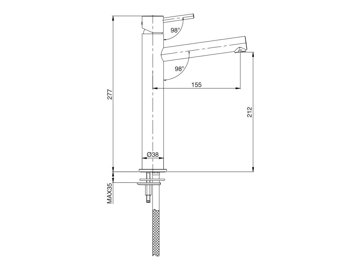 Mizu Drift MK2 Extended Basin Mixer Tap (5 Star)