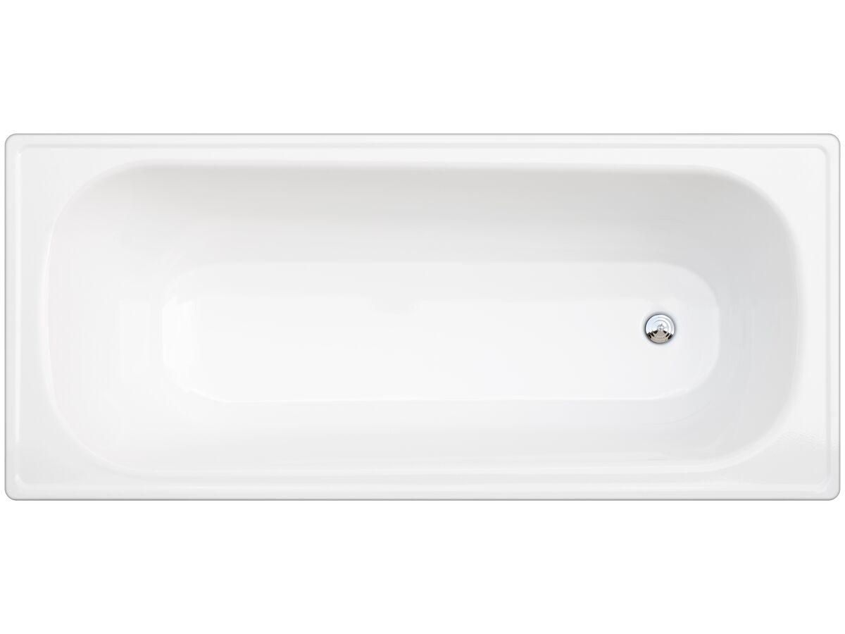 Base Pressed Steel Bath 1700 x 750mm White