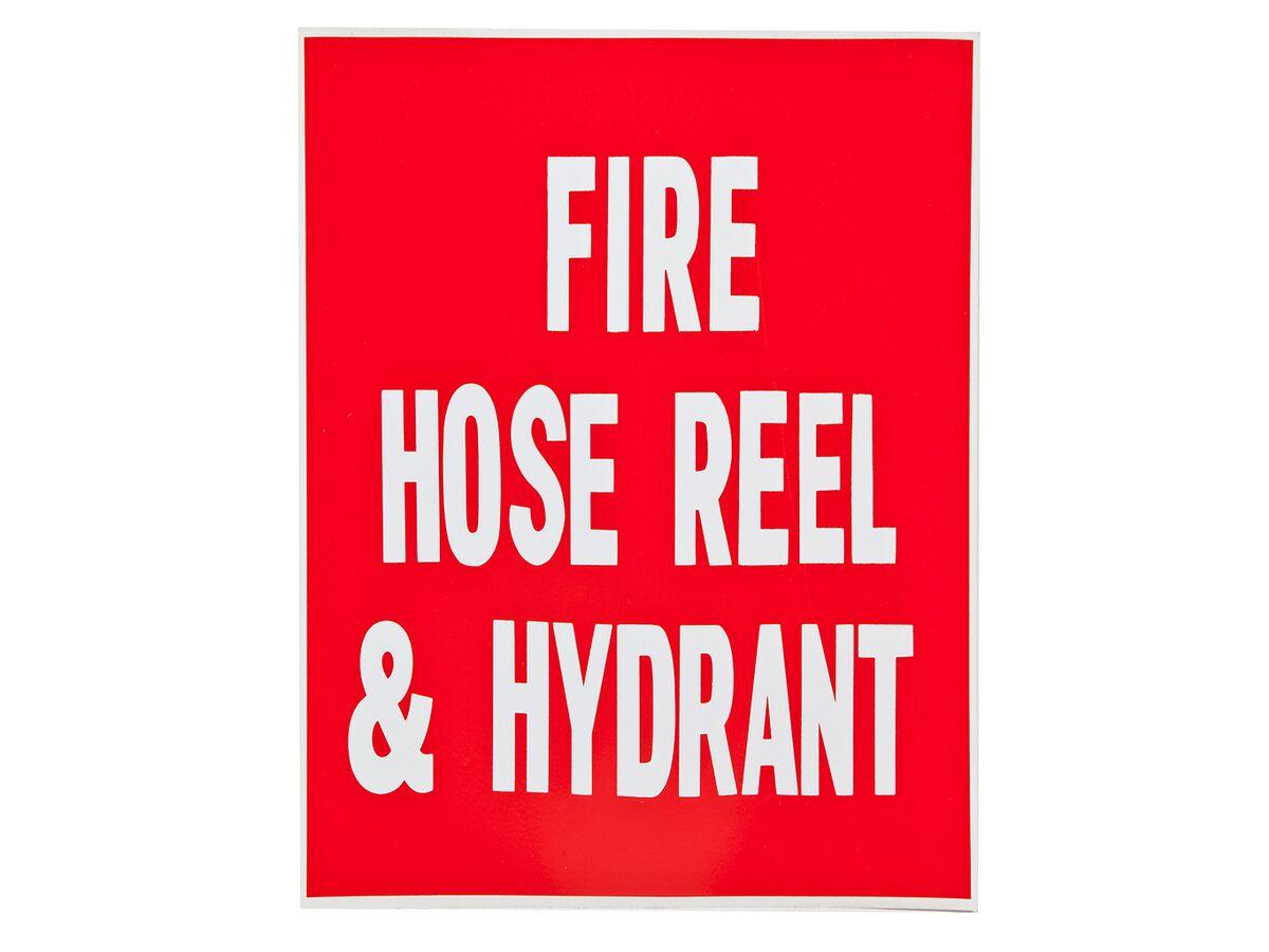 Location Signs - FHR & Hydrant - Sticker