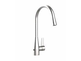 Memo Sia Sensor Gooseneck Sink Mixer Tap Dual Function Right Hand Lever Brushed Chrome (4 Star)
