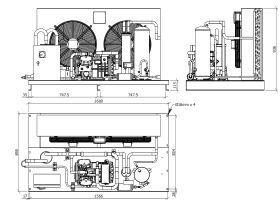 Tecumseh Semi Hermetic EVO Condensing Unit SHT4610ZHR 3 Phase