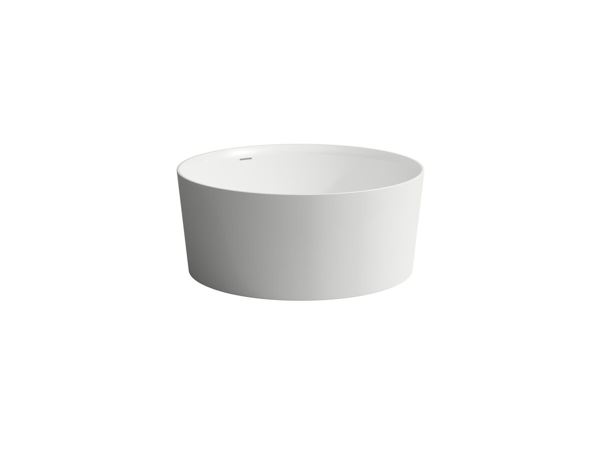 Laufen Val Freestanding Bath with Overflow 1300 Round Plug and Waste