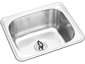 POSH Solus Flat Rim Trough 45 Litres 1 Right Hand Taphole Stainless Steel