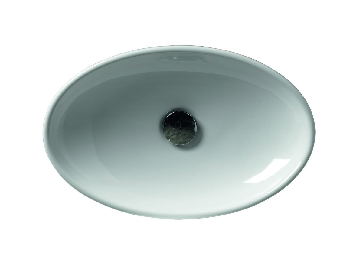 AXA H10 Oval Counter Basin 500 x 320mm White