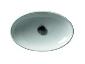 AXA H10 Oval Counter Basin 500 x 320mm White