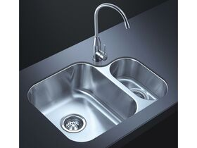 AFA Flow 1 1/4 Bowl Undermount Sink No Taphole 599mm Stainless Steel