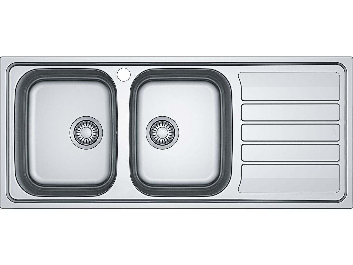 Franke Flash Flx621 Double Bowl Sink Only Right Hand Drain Left Hand Bowl From Reece