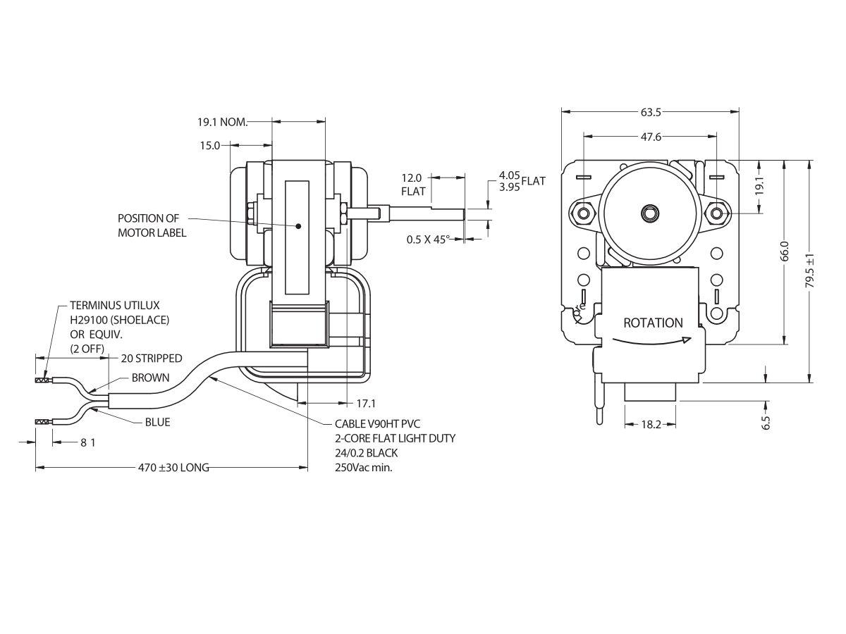 J06Bm19 Fan Motor 6W Muller (Anti)