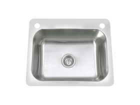 Posh Domaine Trough 45L with Bypass 2 Taphole Stainless Steel