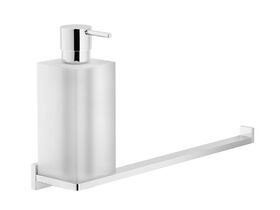 Solido Wall Mount Soap Dispenser with Towel Rail Chrome