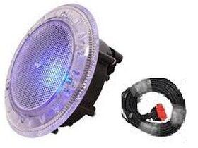 Spa Electrics 1 x WNC White LED Light Clear Rim Concrete Mounting Kit & 20mtr Cable