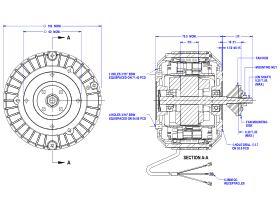 50D551-02A Hub Mount Fan Motor 20W