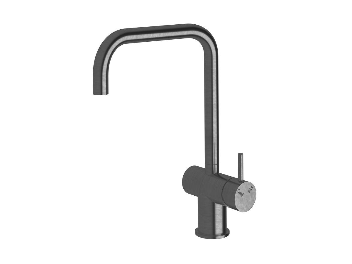 Scala Sink Mixer Square Large RH LUX PVD Brushed Smoke Gunmetal (4 Star)