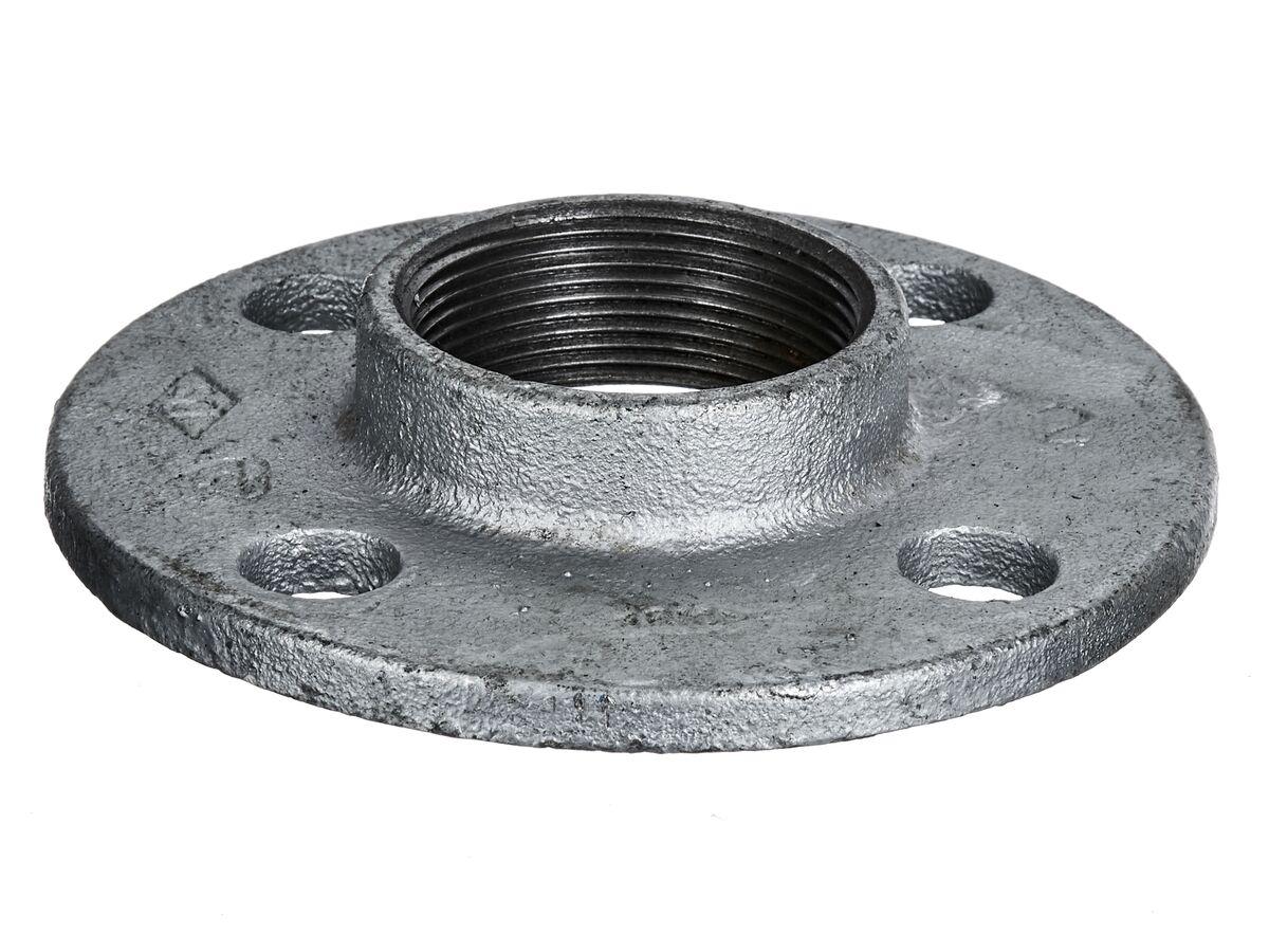 Flange Drilled Round Galvanized 50mm