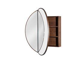 Issy Halo Round Shaving Cabinet-Hazelnut Oak