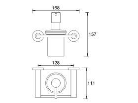 Mizu Drift Wall Mount Soap Dispenser Chrome / Glass