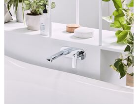 Mizu Bliss Wall Bath Mixer Set 200mm Chrome
