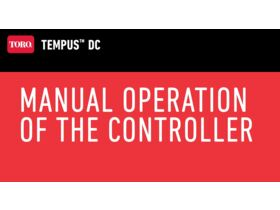 Manual Operation of the Controller