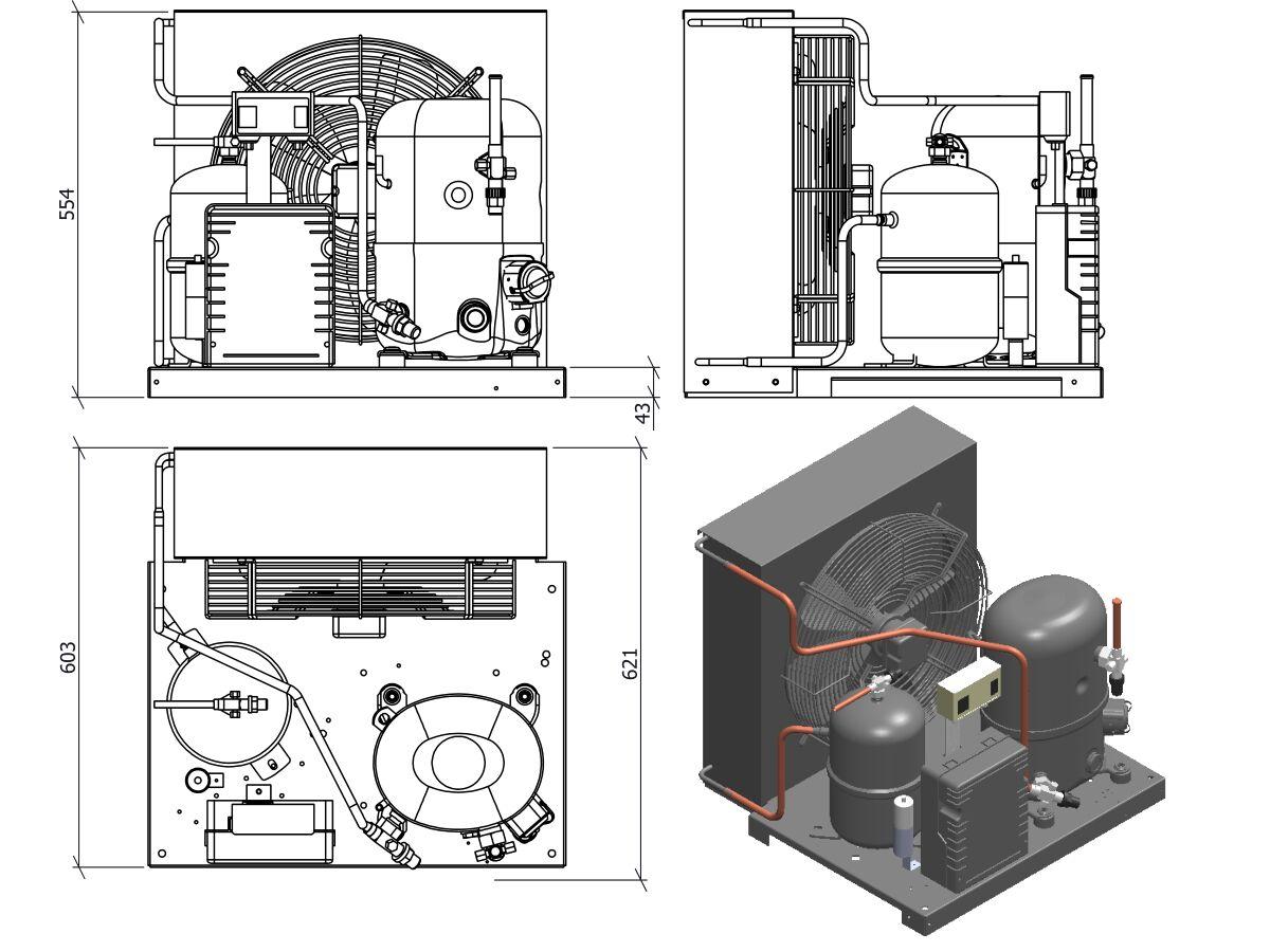 Tecumseh Condensing Unit 2HP R404A MHBP FHT4524ZHR