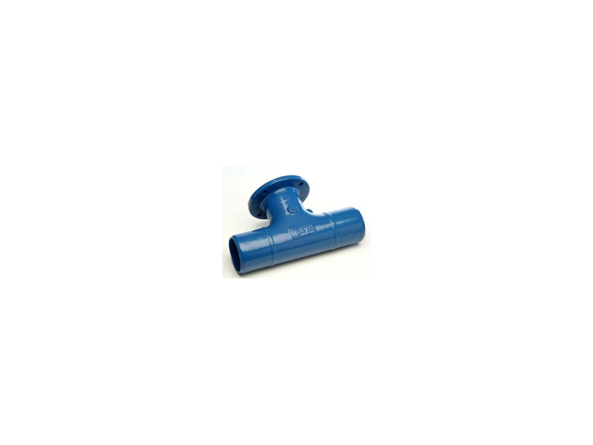 Ductile Iron Tee (Spigot x Spigot x Flange) PN16 B5 100mm x 80mm