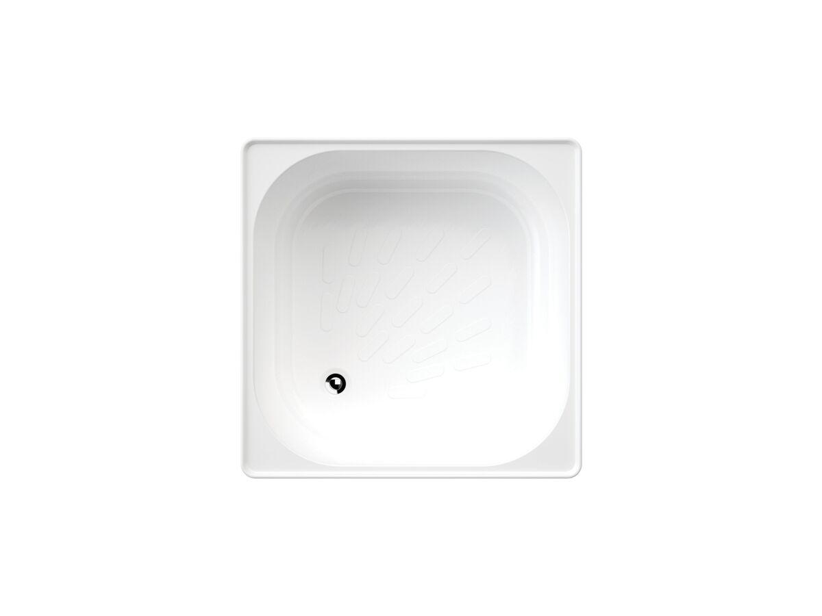 Mayfair Pressed Steel Shower Bath White