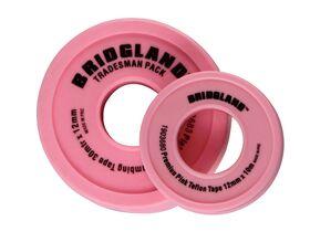 Bridgland Pink PTFE Tape 12mm x 30mtr