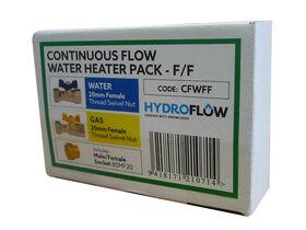 Continous Flow Water Heater Valve Kit Female/Female