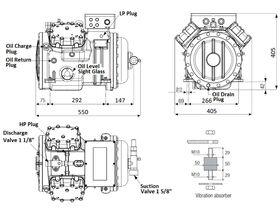 Tecumseh Semi Hermetic Compressor SH4620Z