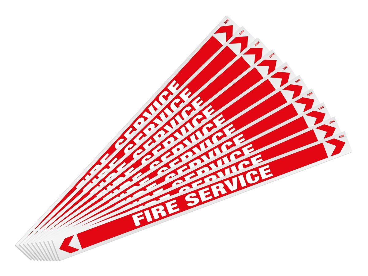 Pipe Marker Fire Service 400mm x 25mm (10)