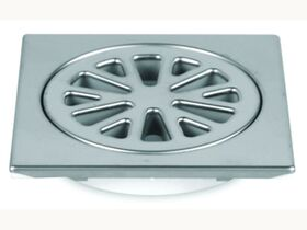 Stubby Floor Grate Stainless Steel Square 100mm