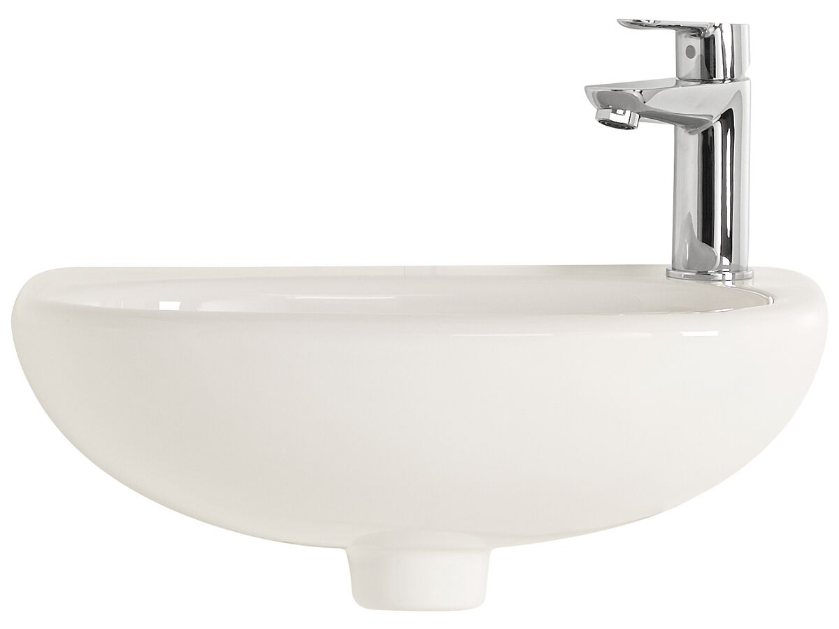American Standard Studio Wall Basin with Fixing Kit 1 Taphole 450mm White