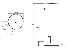 Thermann Storage Electric Single Element 160L