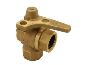 Meter Stop Right Angle Ball Valve Lockable 20Fi x 20mm Comp