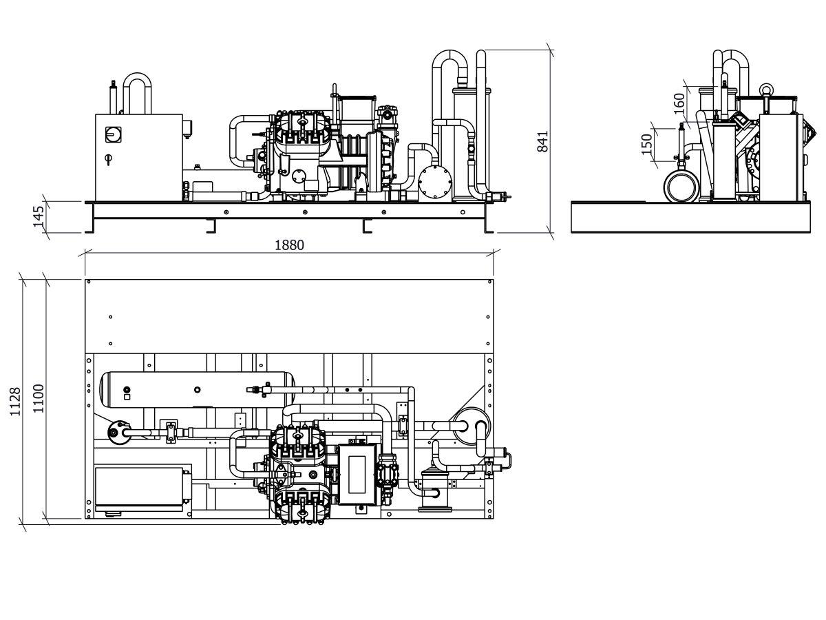 Tecumseh Semi Hermetic Receiver Unit SHR4623ZHR