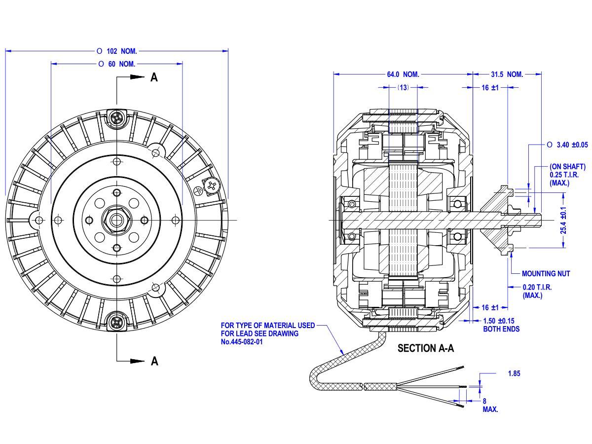 Shaded Pol Motor 50D552-01AT