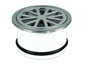 PVC Drainer Grate Round Stainless Steel Top 100mm