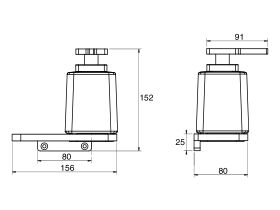 Milli Glance Wall Mount Soap Dispenser with Shelf Black