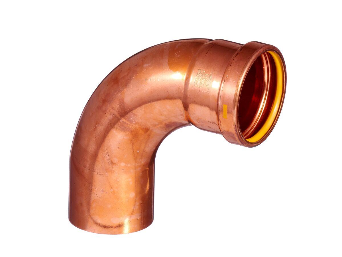 >B< Press Gas Elbow Male & Female 90 Degree x 80mm