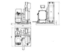 Tecumseh EVO-Aqua Water Cooled Condensing Unit R404A TAJ4519ZHR-HE 3 Phase