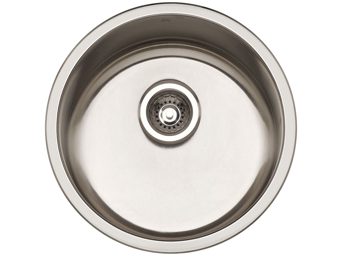 AFA Infinity Outdoor Undermount / Inset Round Sink No Taphole 450mm Stainless Steel