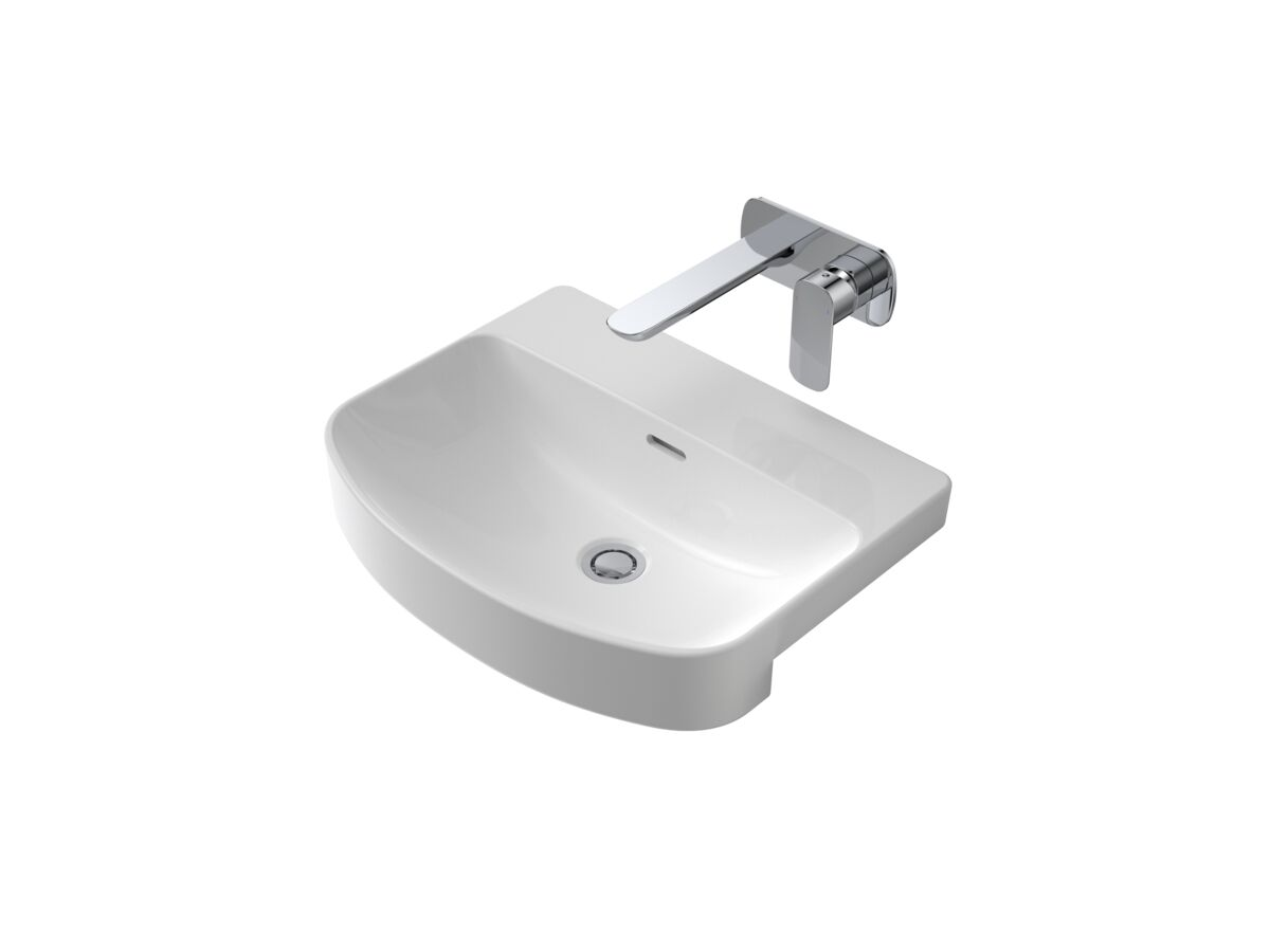 Caroma Forma Semi Recessed Basin No Taphole with Overflow