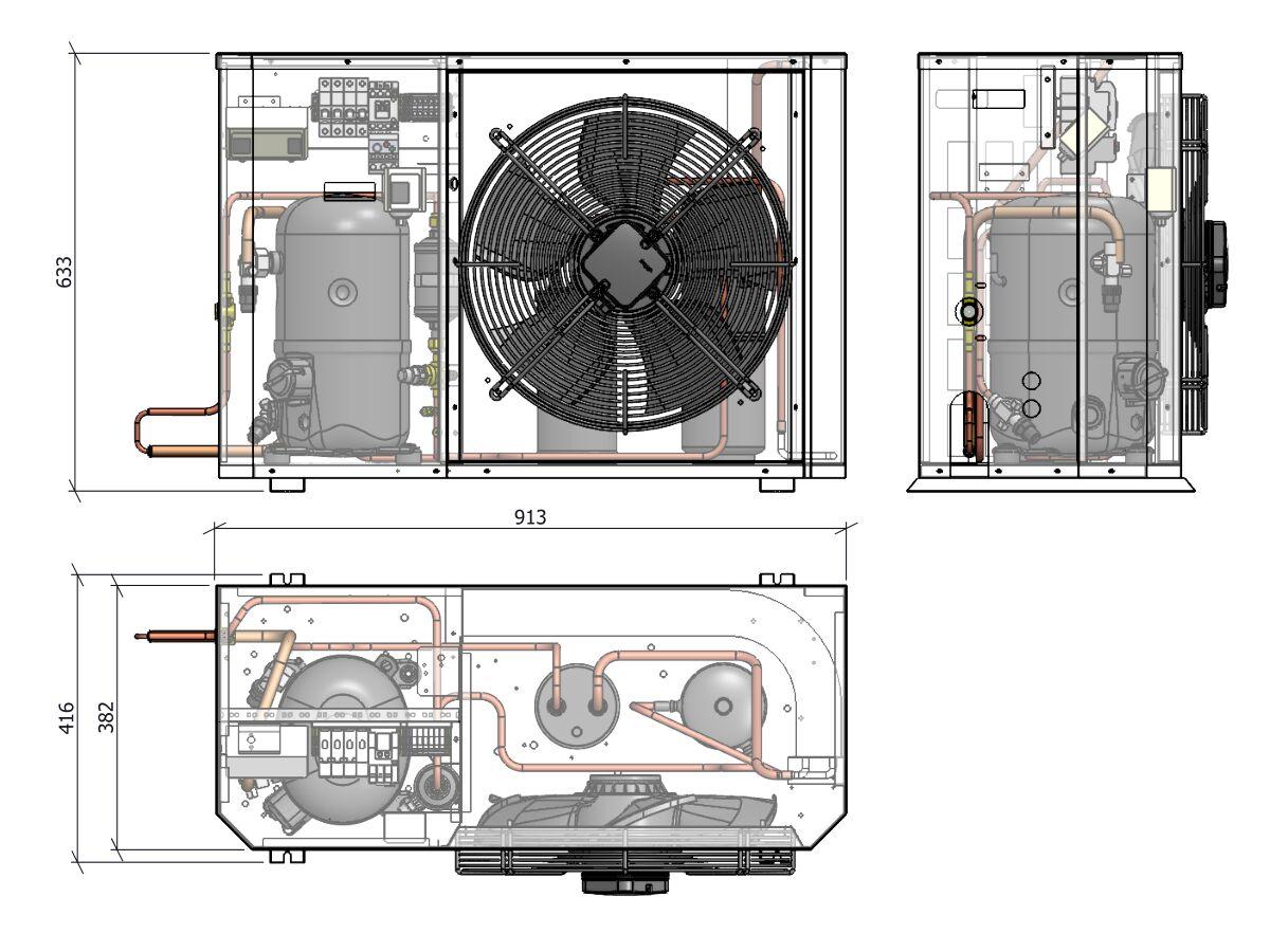 Tecumseh Compac Condensing Unit R404A PACS4531Z 1 Phase