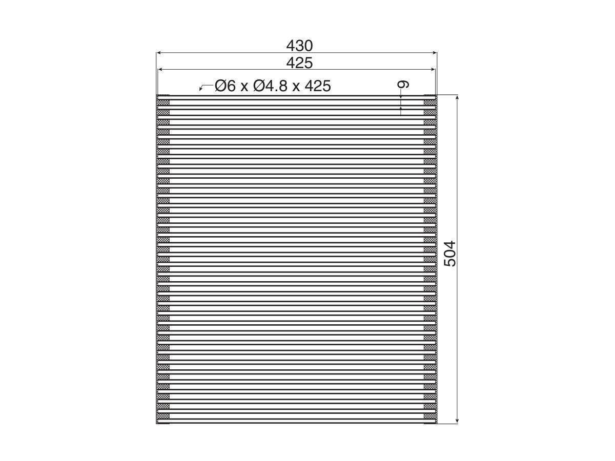 AFA Roller Mat 504mm x 430mm Stainless Steel