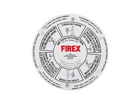 Firex FHR Inst Sign Nameplate - Plastic